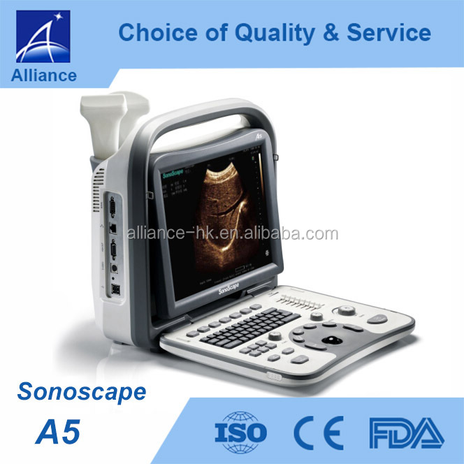 Sonoscape A5 Portable Black and White Ultrasound CE ISO FDA