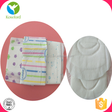 2017 OEM breathable Sanitary Pads with Wings for day use
