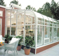 Thermal insulated aluminum alloy frame and glass sun room with four performance
