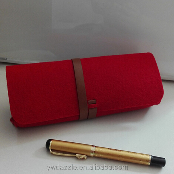 New arrival beauty custom handmade felt pen bag