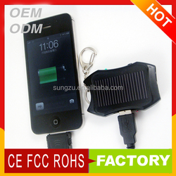 keychain solar charger for mobile phone, solar power bank charger,kerying solar energy charger