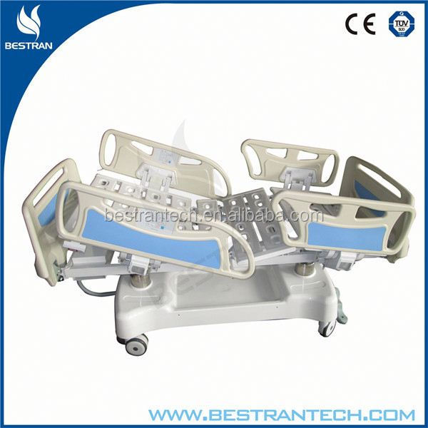 China BT-AE001 CE/ISO hospital linak electric patient ICU bed, intensive care hospital rubber bed sheets manufacturer