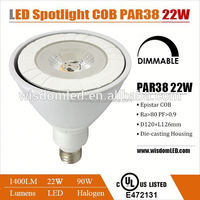 UL cUL listed par 38 22w led light with 3 years warranty