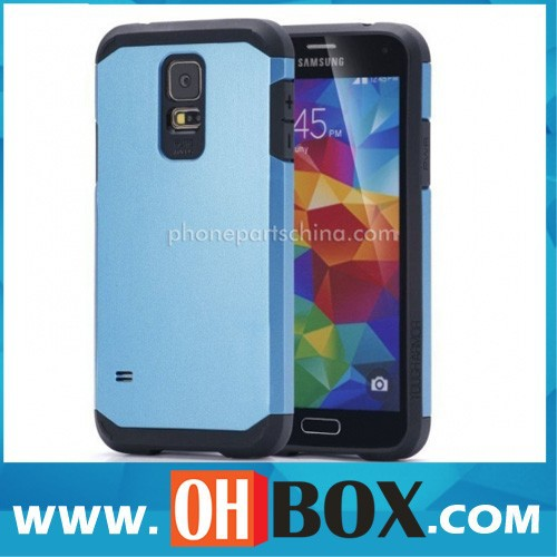 Wholesale for samsung s5 stand case hybrid pc hard case for samsung galaxy s5