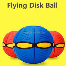2017 Top sale sport game toy UFO Flying Bouncing hover flat magic ball