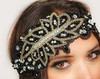 Flapper Style Crystal Lace Beaded 1920's Great Style Headpiece Headband