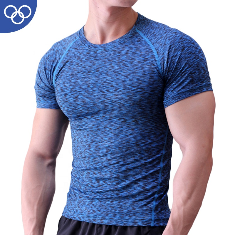 OEM FACTORY High Quality <strong>Men</strong> Printing Body Tight Sports Training Fitness Compression Gym T Shirt for <strong>men</strong> compression shirt