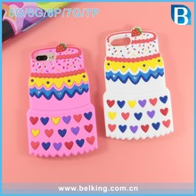Newest design for silicon cell phone case ,cake shape silicon cell phone case for iphone 5 6 6plus 7 7plus