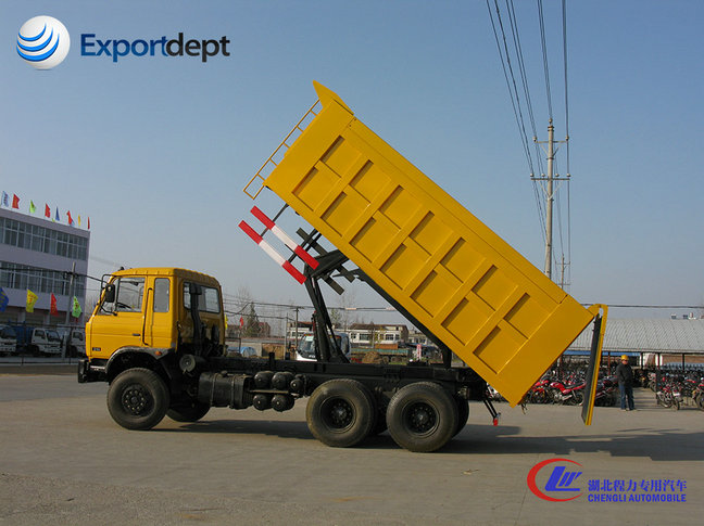 10 ton dongfeng used 6x4 dumper truck with factory price