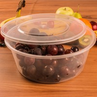 1250ML deep round tableware microwave disposable plastic bento lunch box eco-friendly safe food container
