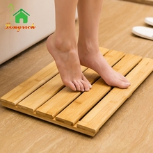 Non Skid wooden Bamboo Bath Shower Floor Mat