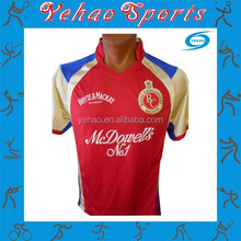 Coloured cricket team t20 jersey design