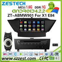 "ZESTECH OEM 9"" capacitive screen android car dvd for BMW X1 E84 with 3g wifi bluetooth gps"
