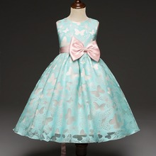 High quality fancy flower kids puffy dress bulk girls party dresses children#C00325