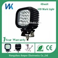 Car head light square parts 48w cob high lumens off road accessories ip68 led work light