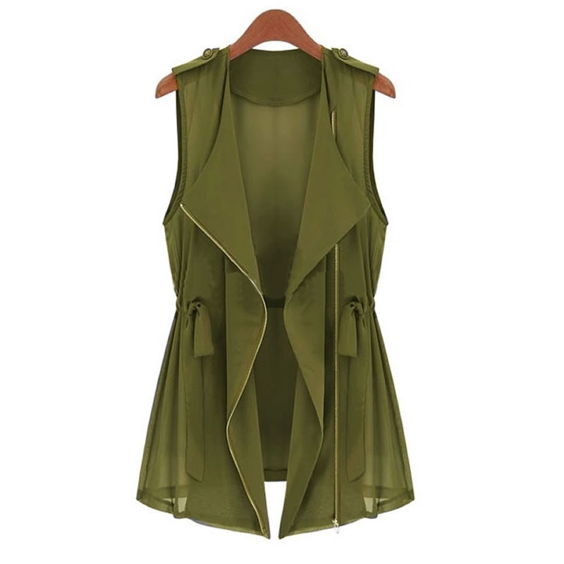 summer women modal open vest long style
