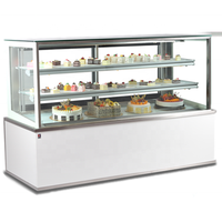 Guangdong supplier single-temperature Style countertop cake refrigerated cake showcase with CE certification