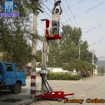 Motorized Rotating Platform Aluminum Alloy Lifts 4 Meter