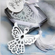 Silver plated metal butterfly custom 3d animation style bookmark