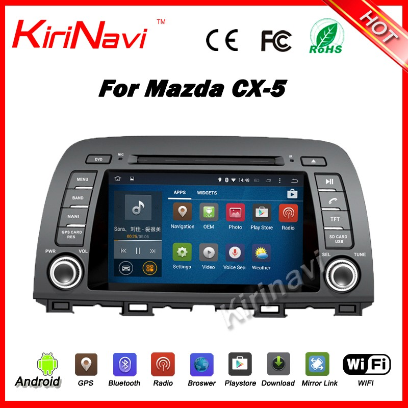 Kirinavi WC-MZ8002 Android 5.1 car for mazda cx-5 car dvd multimedia player navigation system mp3/mp4 touch screen player