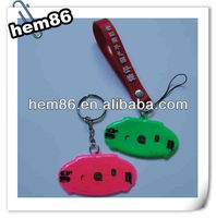 custom fashion pvc keyring