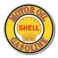 Custom Shell Gasoline Motor Oil Retro Vintage Tin Sign