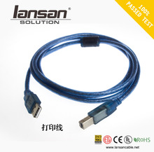 USB 2.0 A male to B male 28/24awg Cable Printing Cable Extender Cable (Golden Plated)