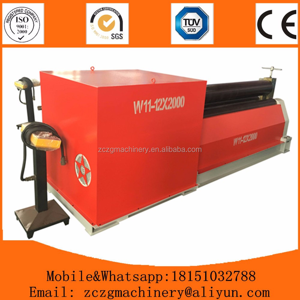 2 years warranty real manufacture <strong>W11</strong> mechanical 3 rolls sheet plate <strong>rolling</strong> <strong>machine</strong>