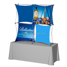 Advertising stable fabric pop up display banner stand/media wall
