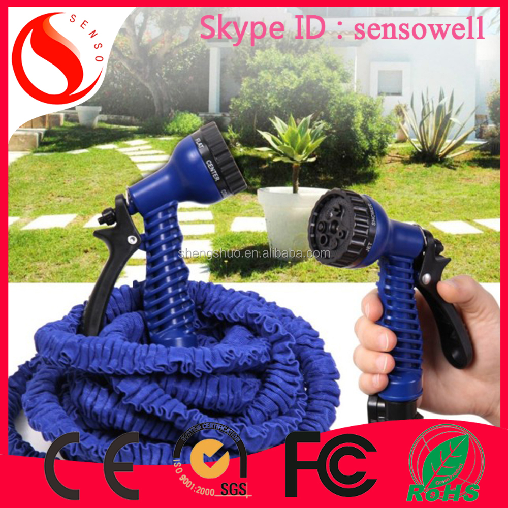 2015 Yiwu futian market low price hose magic latex garden expandable water hose