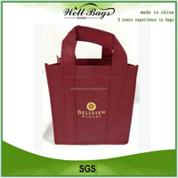 Recycle custom 6 pack wine bag for promotional,recyclable bags