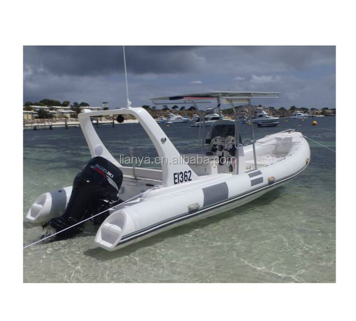 Liya 6.6m hypalon inflatable boats speed boats fiberglass sailing boat luxury yacht