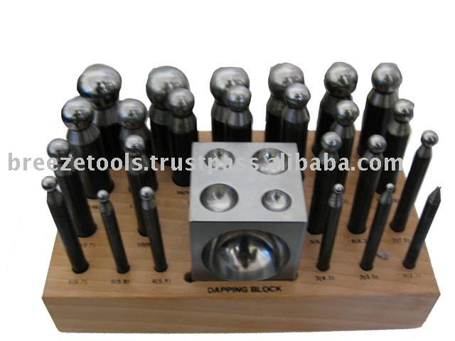 Doming punch and Doming Block set 25 pcs