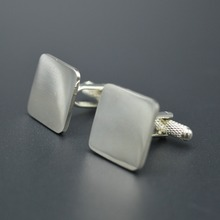 OEM Custom No MOQ Cheap Sliver Cufflinks Blanks By your own design