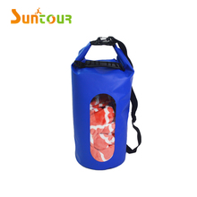 20L 500D PVC camping swimming waterproof dry bag with window