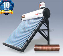 Homemade copper coil solar hot instant water heater for kitchen (200L -360L)