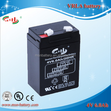 4V 6ah Sealed Lead Acid Rechargeable Battery for LED Torch/LED hunting spotlight