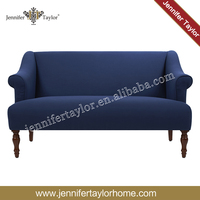 Linen Banquette Bench Tufted Fabric Loveseat wooden settee sofa chair