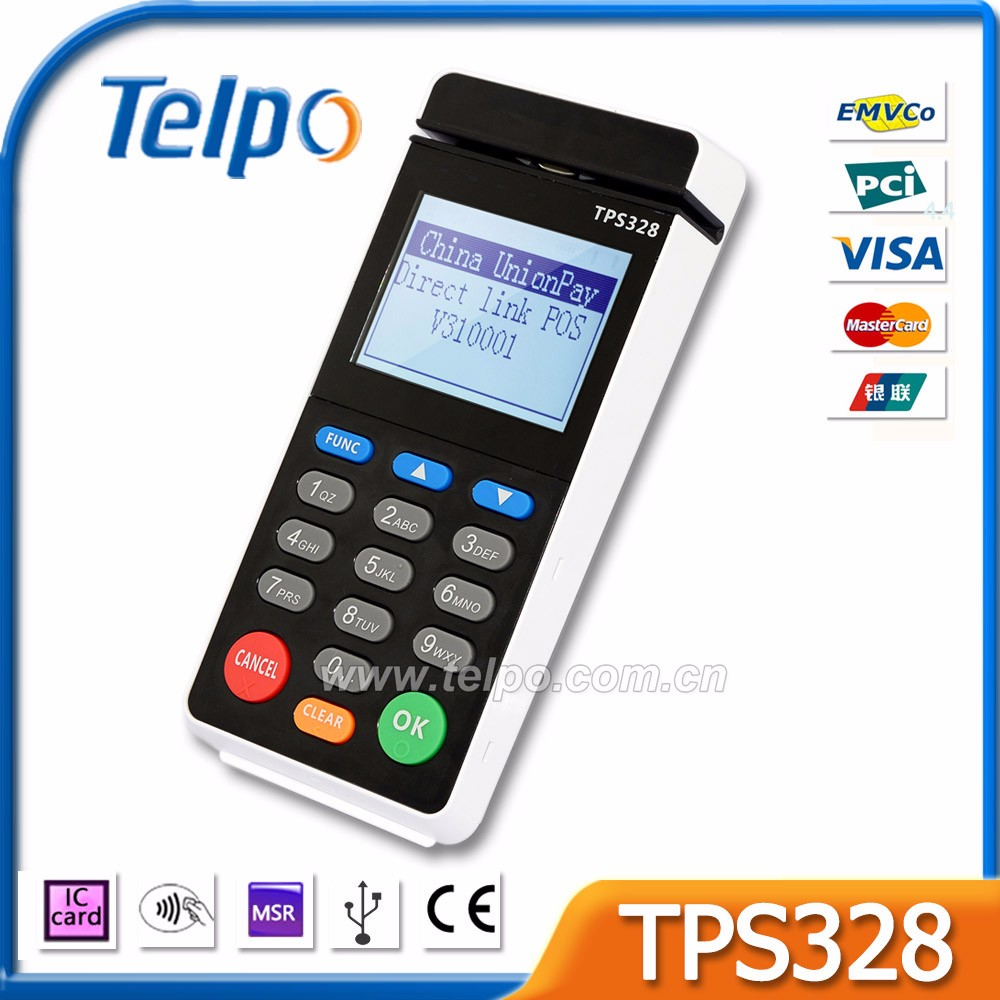 Customize Solutions Mobile Magnetic Card Reader With Pin Pad For Restaurant