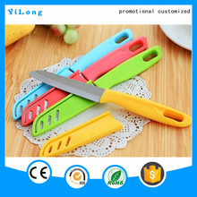 Wholesale hot selling corful plastic handle kitchen knife