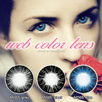 0.02 mm Center Thickness and Three Tone Lenses Color power contact lens