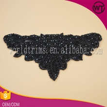 wholesale latest designs bead and stone appliques rhinestone trimmings for dress