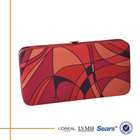New online selling fashion printed fabric wholesale clutch purses for laides