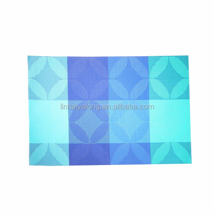 Simple design texlin fabric water proof advertising picture placemat