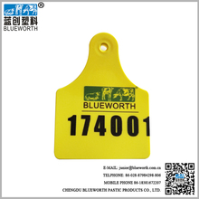 Blueworth 1#+6# Hot Sale Yellow TPU Cattle Identification Ear Tag