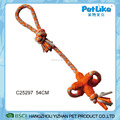 Popular design soft rubber dog toy with rope