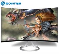 Strong Metal Base Desktop Curved Screen 24 Inch Computer Monitor For Game