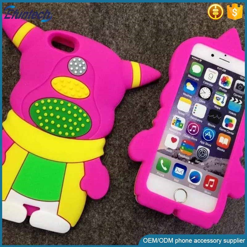 High quality shock proof funny design couple character silicone mobile phone case for iphone 6s plus
