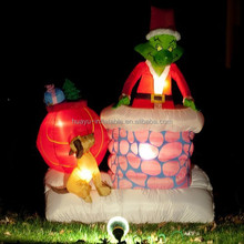 Inflatable christmas grinch/inflatable cartoon characters/inflatable moving cartoon