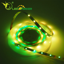 Individually addressable digital ws2812b led flexible pixel strip 30Pixels/M 5050 from china factory